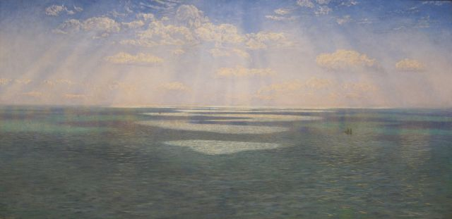 John Brett The British Channel Seen From the Dorsetshire Cliffs 1871