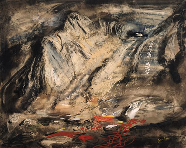 John Piper Jagged Rocks under Tryfan, 1949-50