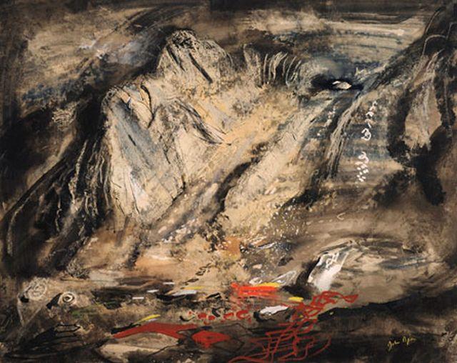 John Piper Jagged Rocks under Tryfan, 1949-50