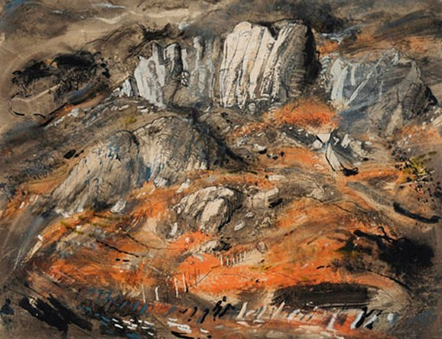 John Piper Rocks at Capel Curig, about 1950