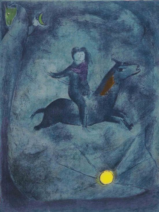 Marc Chagall Mounting the Ebony Horse