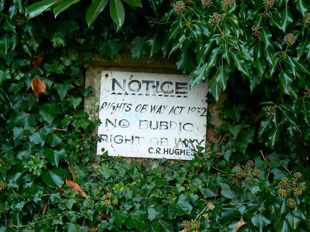 No public right of way