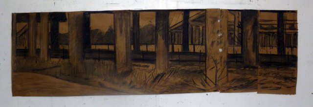 Shaun Morris, Edgelands charcoal