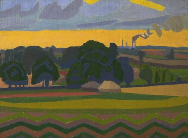 The Beanfield, Letchworth 1912 by Spencer Gore