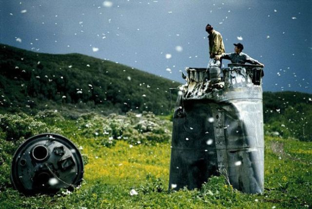 Jonas Bendiksen Kazakhstan spacecraft crash