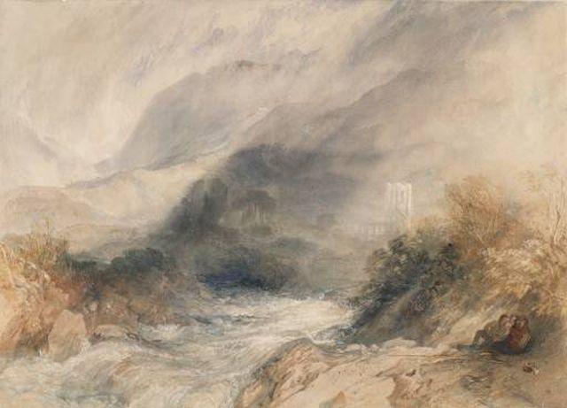 Llanthony Abbey, Turner 1834