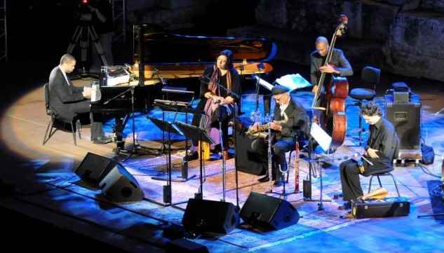 Musicians on stage at the Barbican