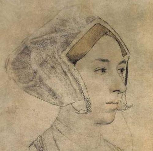 Detail from a portrait of Anne Boleyn by Hans Holbein