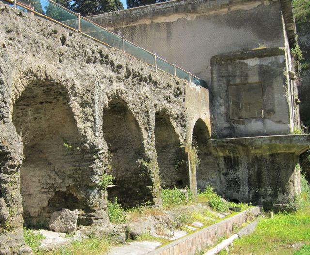 Herculaneum vaults on old shoreline