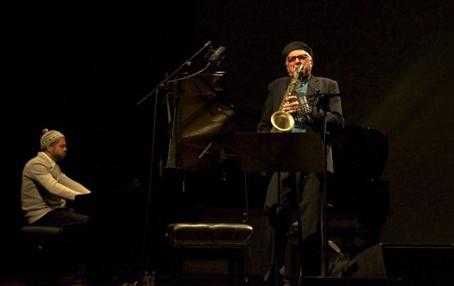 Jason Moran and Charles Lloyd performing together earlier this year.