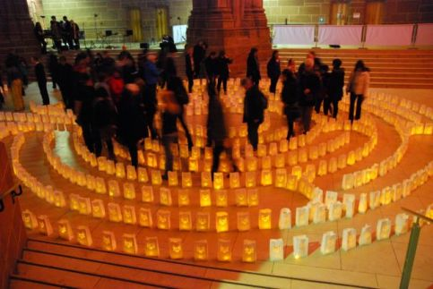 The candlelight labyrinth