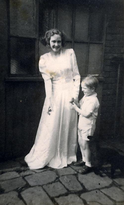 Mum tries on her wedding dress again