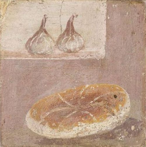 Pompeii exhibition  Bread and figs fresco