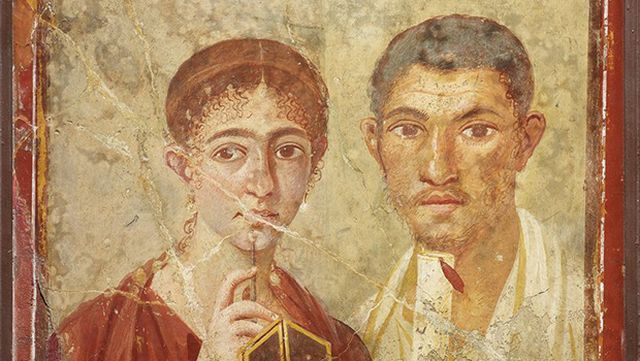 Pompeii exhibition portrait of Terentius and his wife Neo