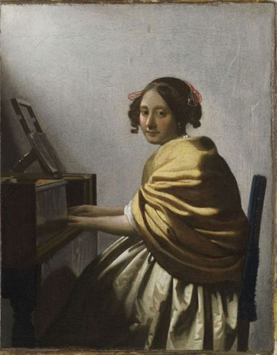 A Young Woman Seated at a Virginal (about 1670-1672) by Johannes Vermeer