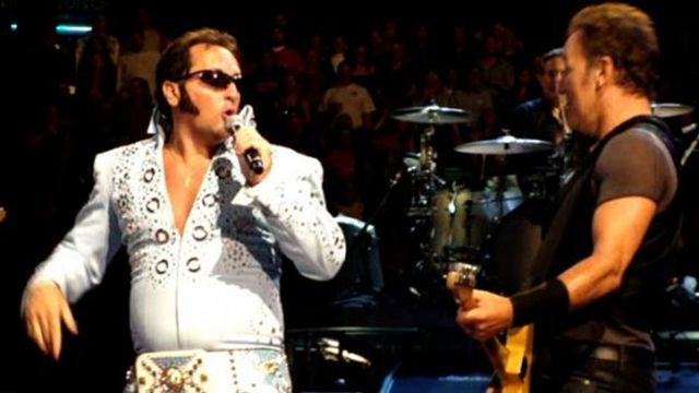 Bruce with the Elvis impersonator