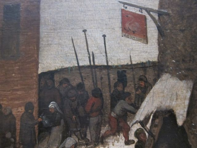 Bruegel Census at Bethlehem 1566 detail 11