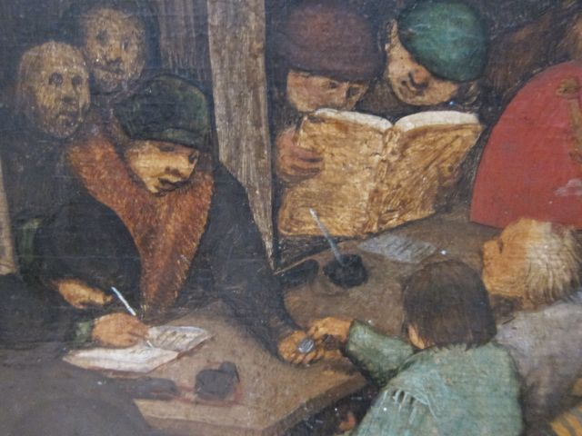 Bruegel Census at Bethlehem 1566 detail 3