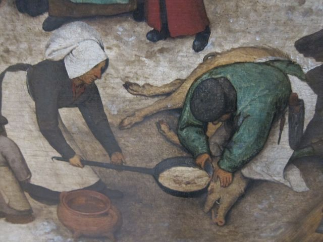 Bruegel Census at Bethlehem 1566 detail 4