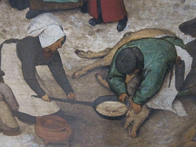 Bruegel Census at Bethlehem 1566 detail 4