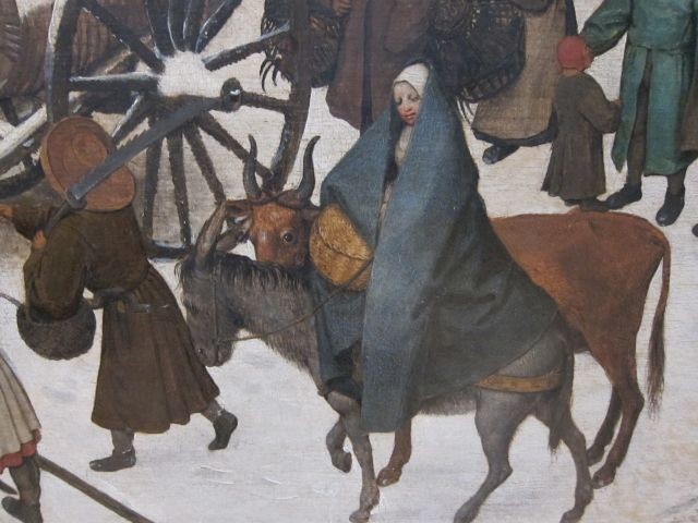 Bruegel Census at Bethlehem 1566 detail 7