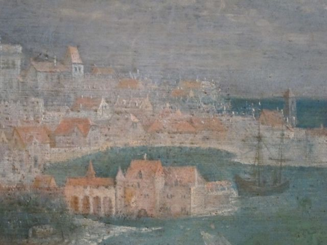 Bruegel Fall of Icarus detail 1