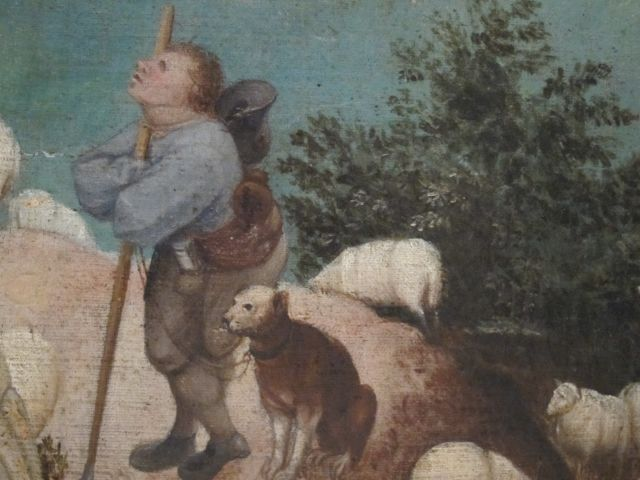 Bruegel Fall of Icarus detail 3