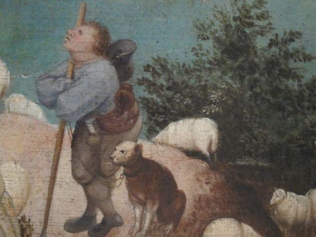 Bruegel Fall of Icarus detail 3