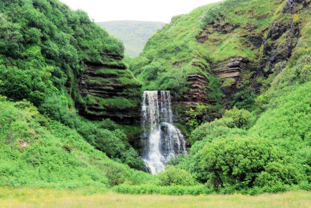 Kildonan shore waterfall