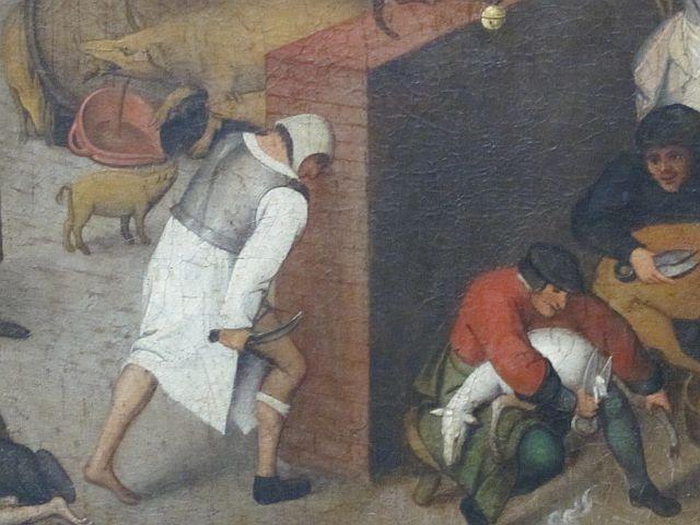 Pieter Breughel II Proverbs detail 1
