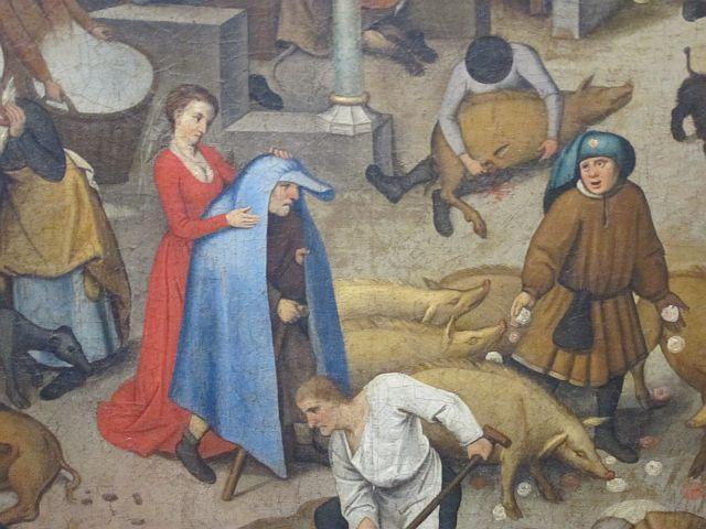 Pieter Breughel II Proverbs detail 2