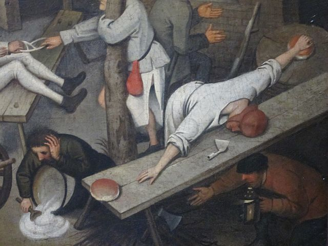 Pieter Breughel II Proverbs detail 3