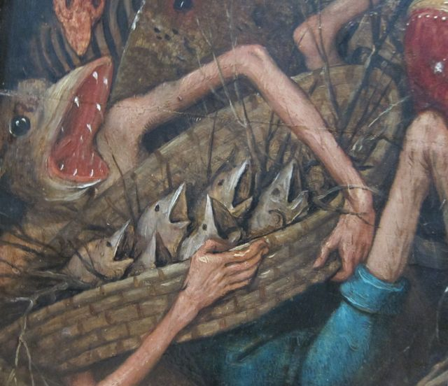 Pieter Bruegel I-Fall of the rebel Angels 1562 detail 8