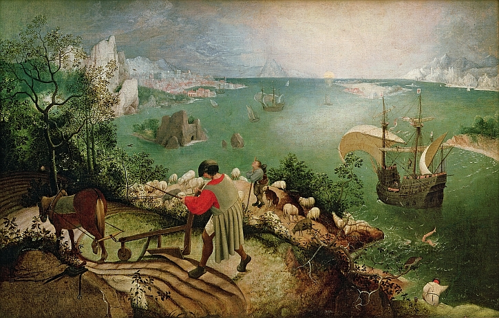 Bruegel,  Landscape with the Fall of Icarus