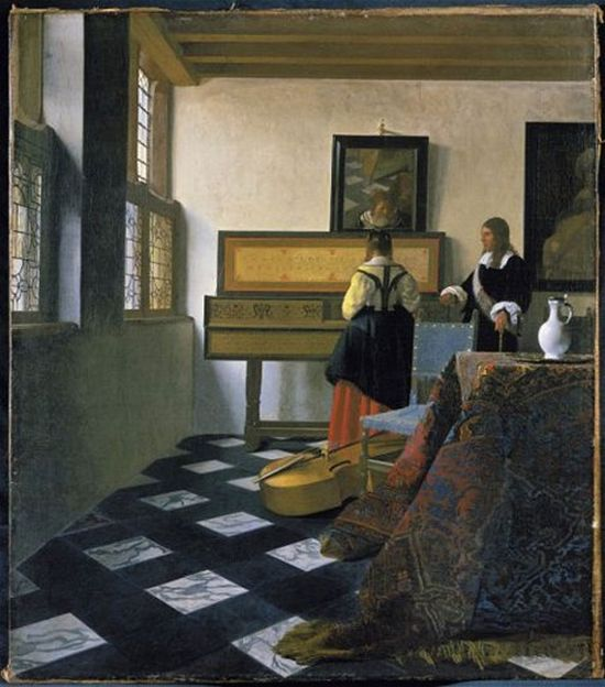 The Music Lesson (1662-3) by Johannes Vermeer