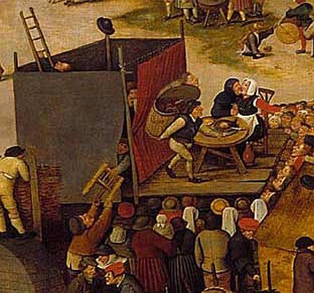 Brueghel Village Festival detail