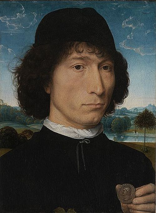 Hans Memling: Portrait of a Man with a Roman Coin