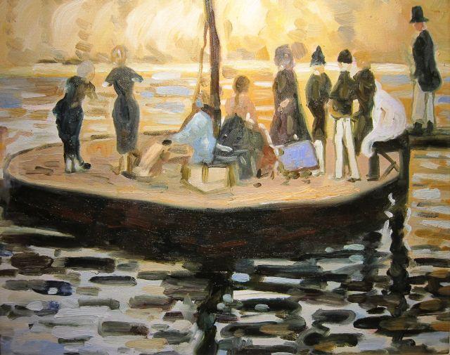 Laura Knight La Grenouilliere 1910
