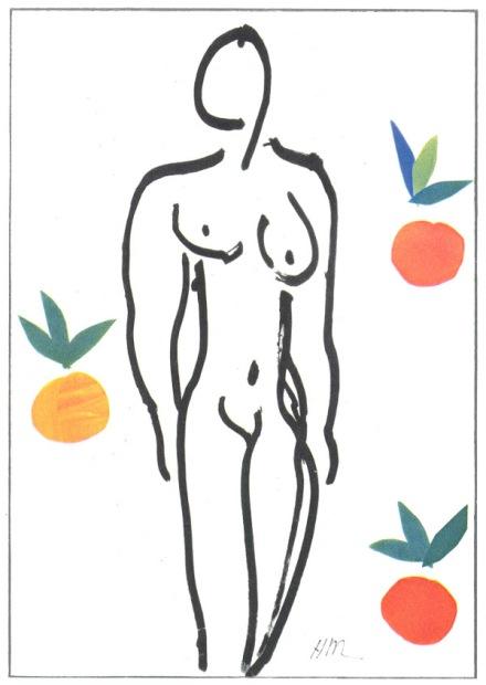 Matisse, Nude with Oranges, 1958