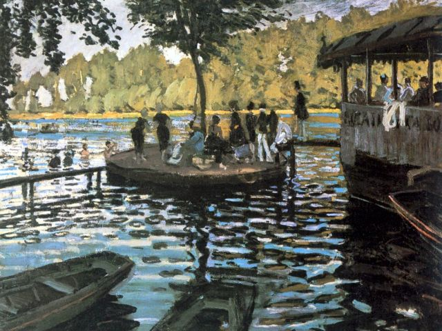 Monet La Grenouillere 1869