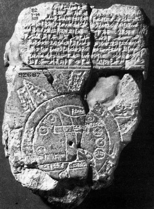 Babylonian World Map 750 BC