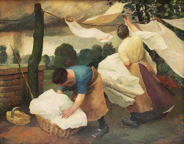 Charles Tunnicliffe, Dry Clothes and Rain, 1926