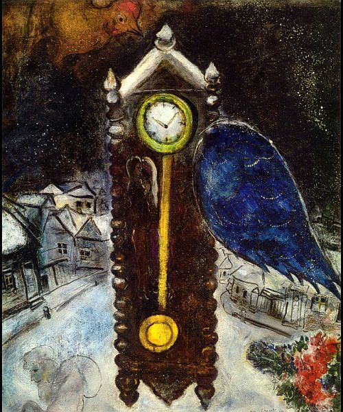 Clock with blue wing 1949