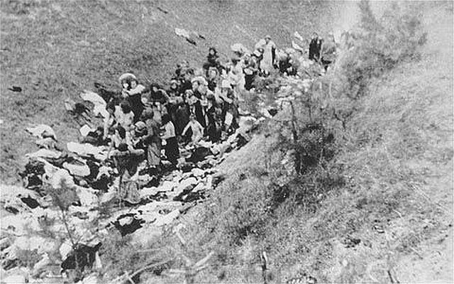 Einsatzkommando victims before execution at Babi Yar outside Kiev, September 1941