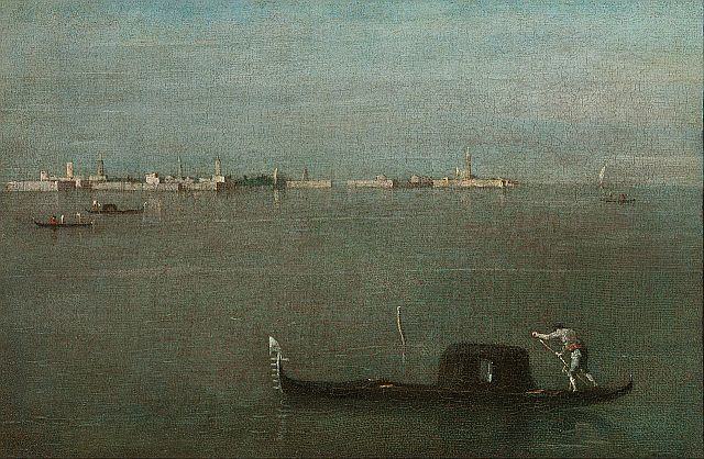 Francesco Guardi Gondolas on the Lagoon