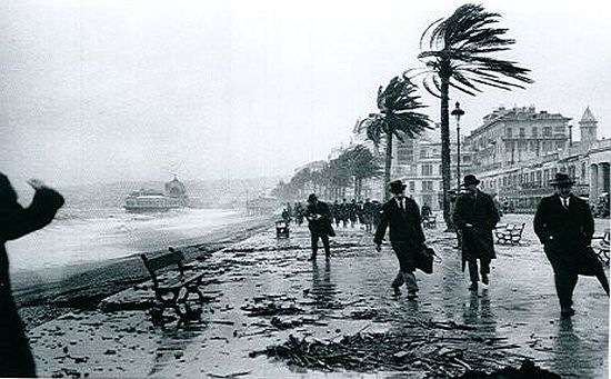 Jacques-Henri Lartigue, storm in Nice February 1915