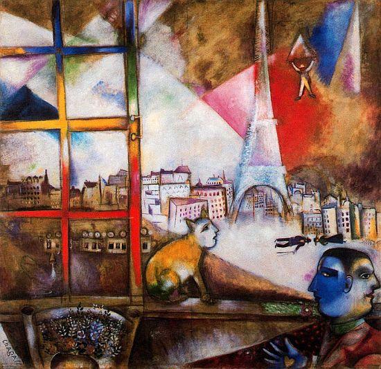 Paris through the window 1913