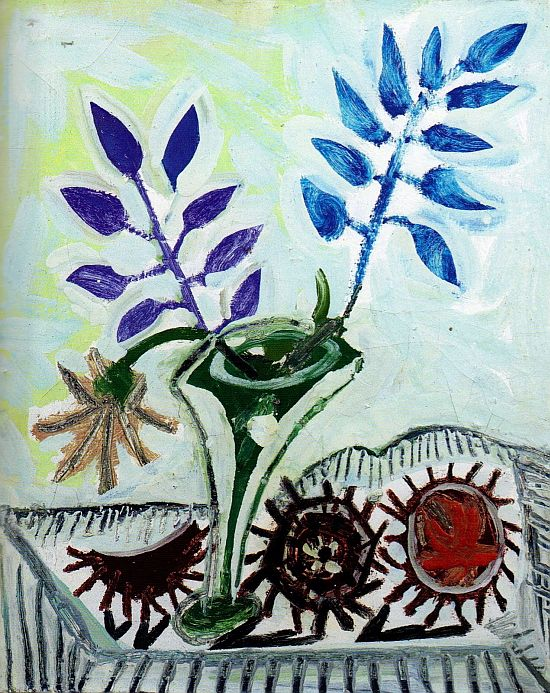 Picasso Vase with foliage, three sea 1946