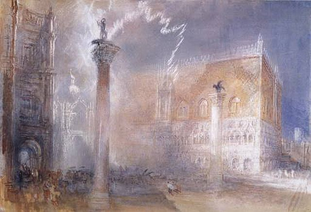 The Piazzetta, Venice circa 1835 by Turner
