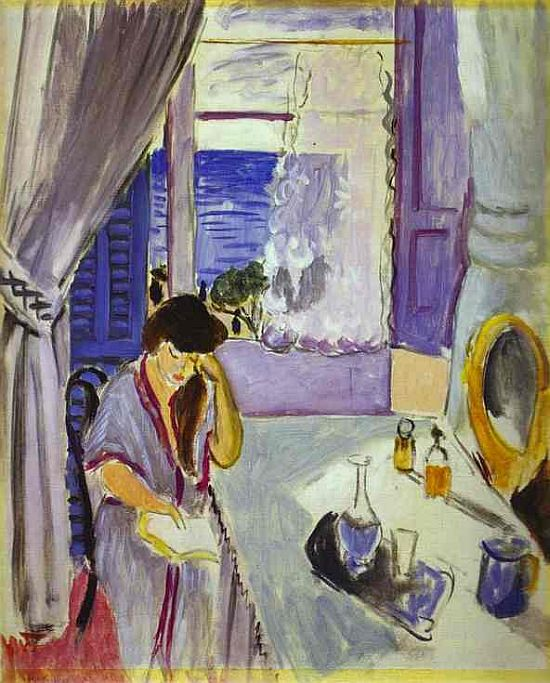 Woman Reading at a Dressing Table (Interieur, Nice) 1919